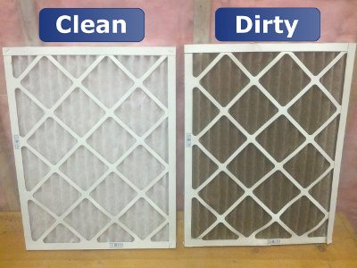Clean vs dirty air filter