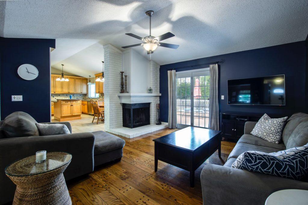 Dark blue Interior design for home