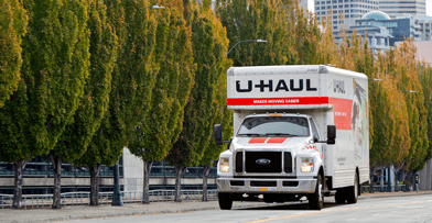 U Haul truck moving