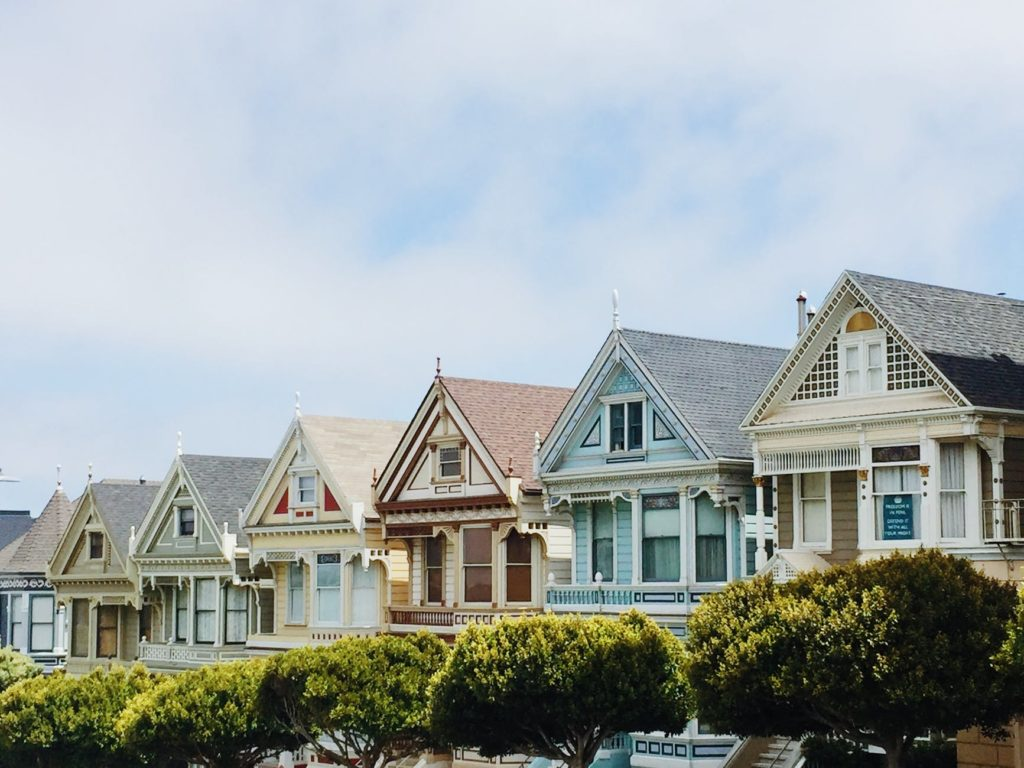The painted ladies in San Francisco, CA