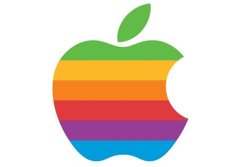 Apple rainbow pride logo