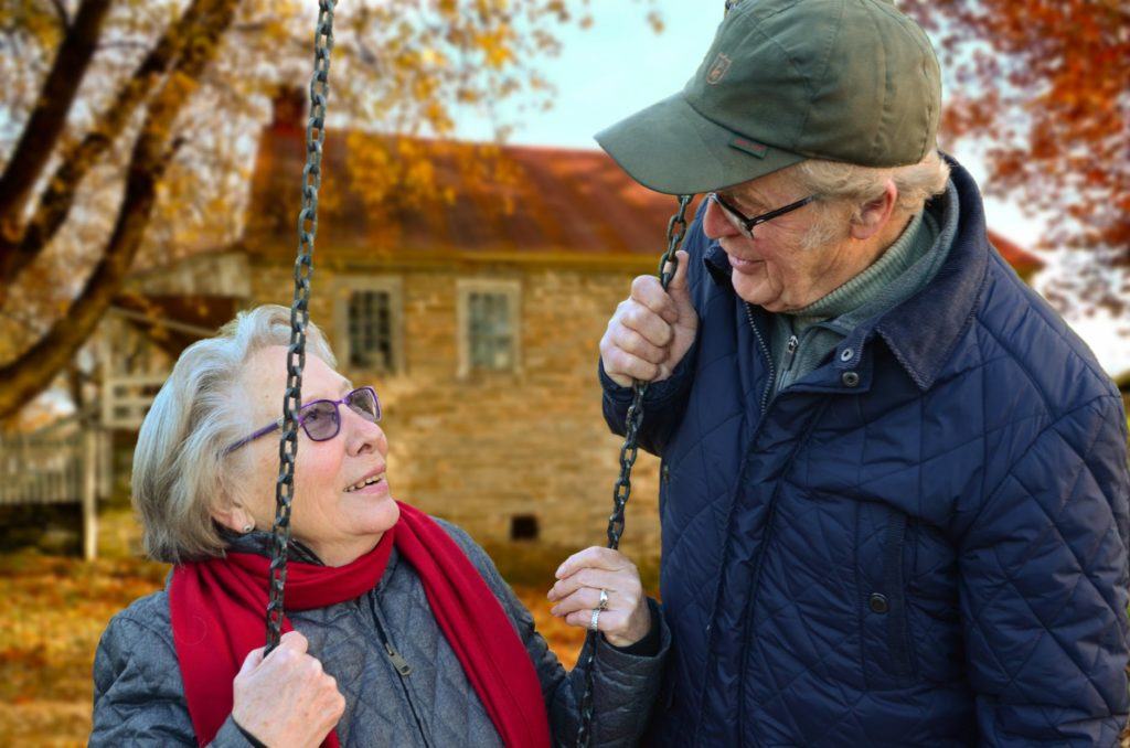 Elderly couple enjoying time together